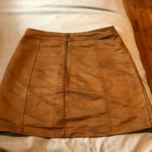 Brown Zip Skirt